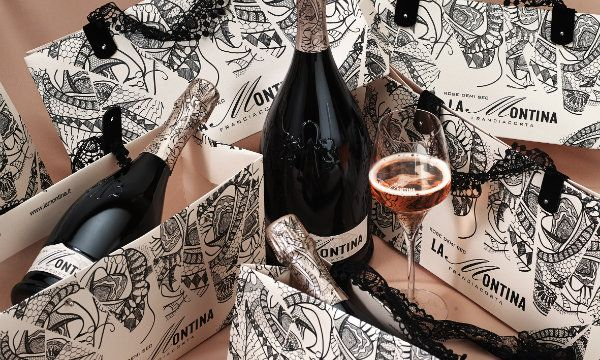Lo shopper del Rose' Demi Sec de La Montina primo classificato al Luxury Packaging Awards