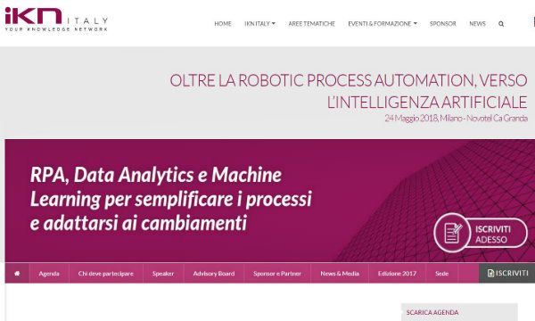 Oltre la Robotic Process Automation, verso l'intelligenza artificiale