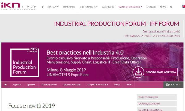 Torna l'Industrial Production Forum