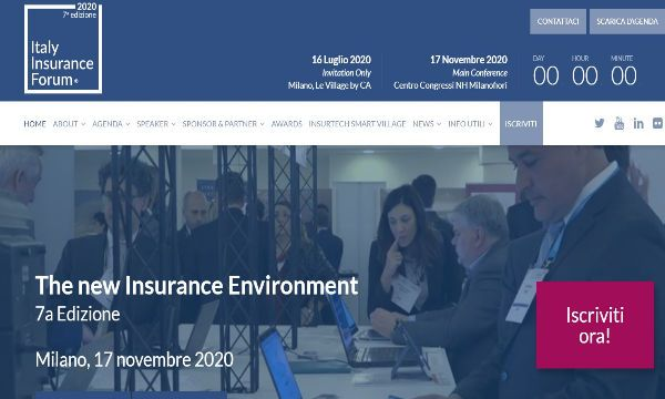 Le nuove date dell'Italy Insurance Forum 2020