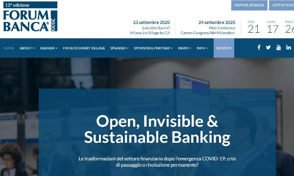 Forum Banca 2020 raddoppia: un evento in due formati