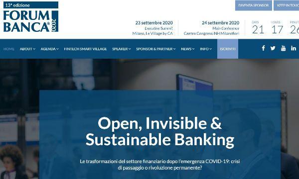 Forum Banca 2020 raddoppia: un evento in due formati