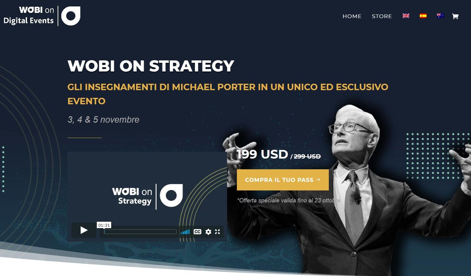 Michael Porter al WOBI On Strategy