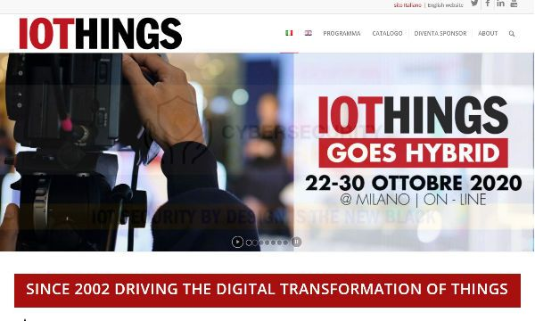 La nuova edizione ibrida autunnale di IOTHINGS World