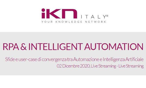 Il 2 dicembre in live streaming la quarta edizione di RPA & Intelligent Automation